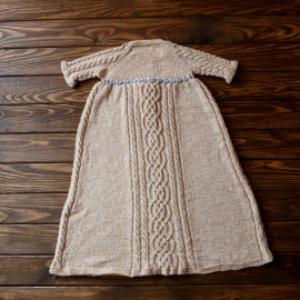 Cable Knit Dress Boy Gown Naming Ceremony 6 months