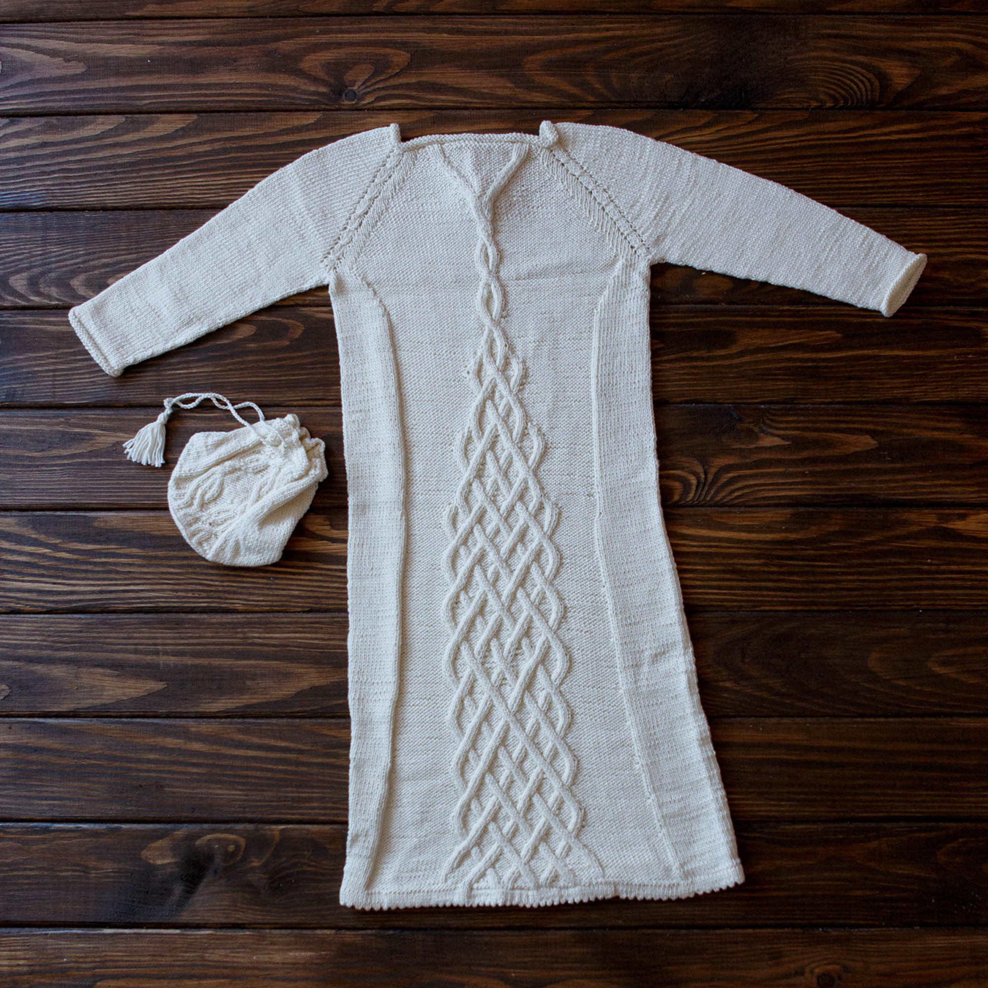 Cable Knit Dress Boys' Blessing Outfit