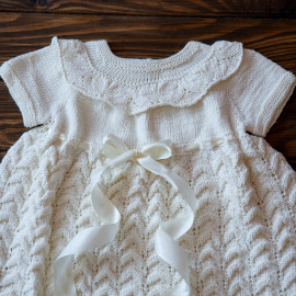Christening gown, ivory, cotton, girl