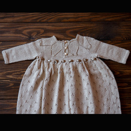Hand Knitted Baby Girl Dress, Very authentic-looking photo