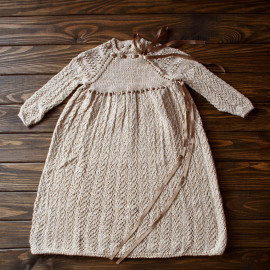 Vintage Baby Dress Baptism Box Baby Knit Dress 18 months