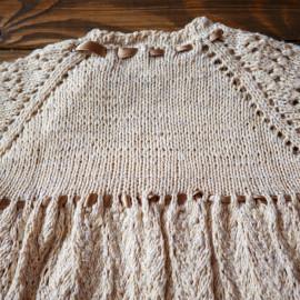 Vintage Baby Dress Baptism Box Baby Knit Dress 18 months