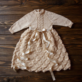 Boy Knit Clothes Blessing Outfit Vintage Knit Robe