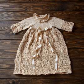 Christening gown, beige, cotton