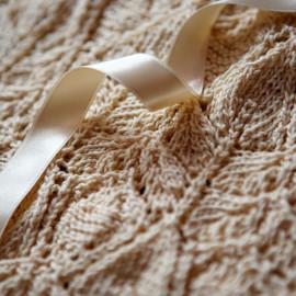 Christening gown, beige, cotton