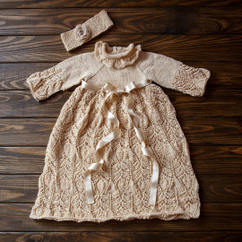 Celebration Dress 6-9 months 2.1'-2.43' 63-74 cm Knitted