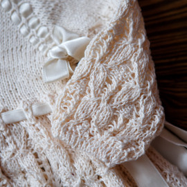 Vintage Christening Gown Loosely Knit 7 months