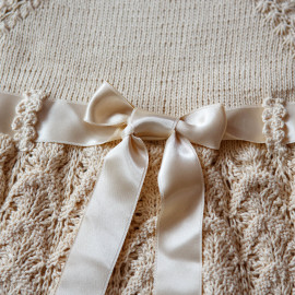 Hand Knitted Christening Set Outfit 12-18 months 80-86cm 2.6' -