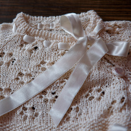 Loosely Knitted Traditional Christening Dress Baby Girl 18