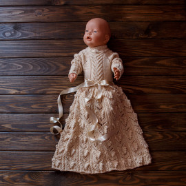 Entirely Knitted Beautiful Baby Girl Gown 2.1'-2.27' 6-9 months