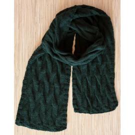 Merino Wool Scarf Green Infinity Scarf