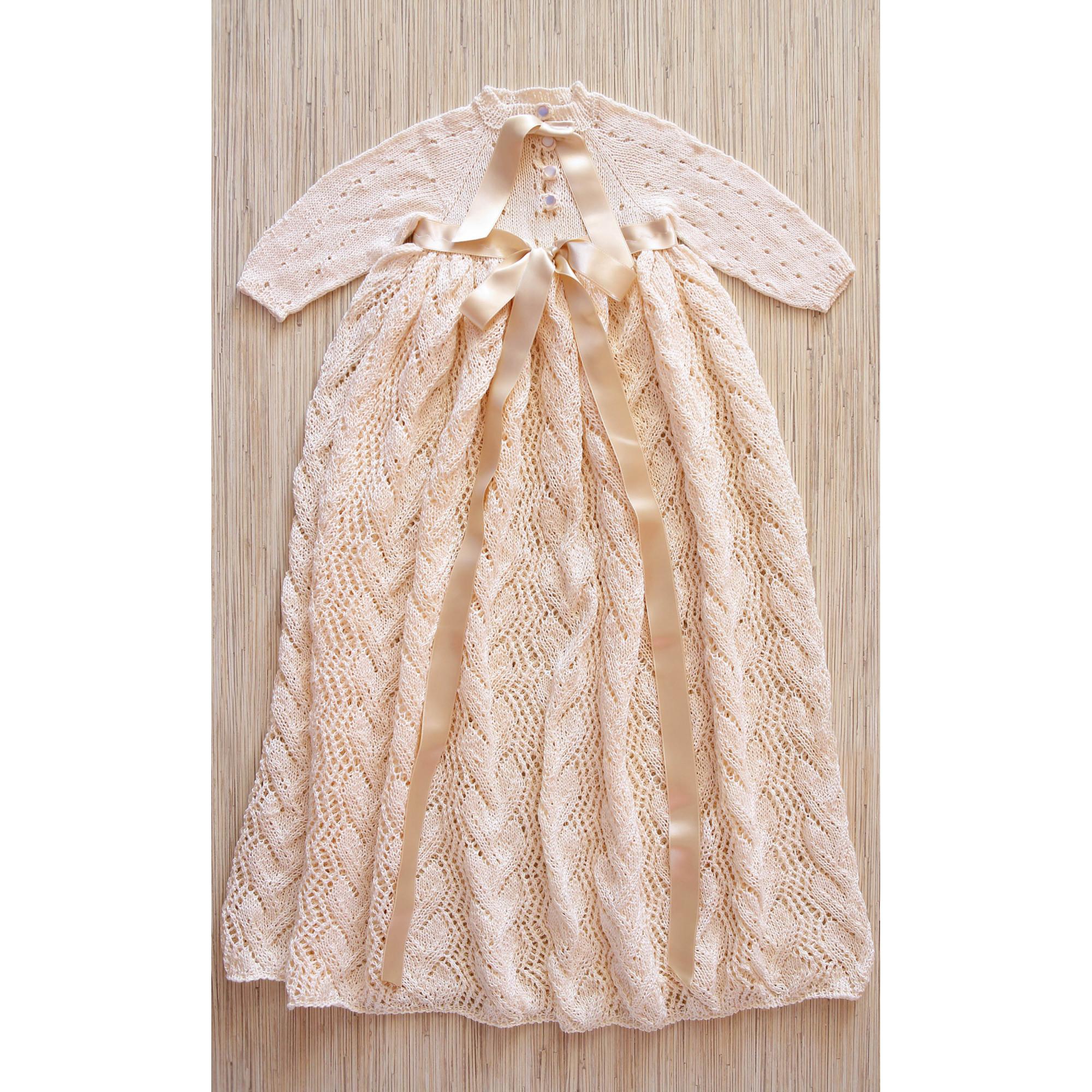 Seamless Baby Dress Loosely Knit Christening Dress 18 months of
