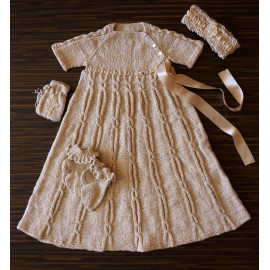 Baptism Box Vintage Knit Dress 3-6 months 57-67cm 1.87'-2.2'