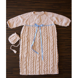 Vintage Knit Dress Cable Knit Dress Infant's Dress