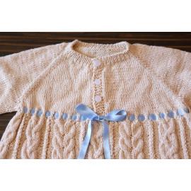 Vintage Knit Dress Cable Knit Dress Infant's Dress