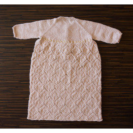 Hand Knitted Baby Girl Christening Dress, 6-8 months, 63 -