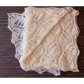 Hand Knitted Shawl Mohair Wrap Shawl