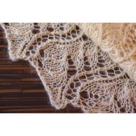 Hand Knitted Shawl Mohair Wrap Shawl