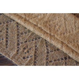 Hand Knit Lace Shawl Photo Guest Book