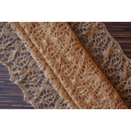 Knitted Lace Shawl, Knit Mohair Shawl