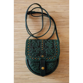 Rustic Style Cross Body Forest Green Bag