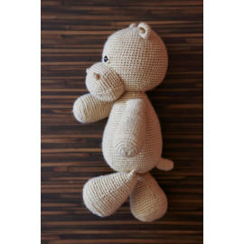 Main Squeeze Hippo Single Tone Hand Stitched Hippo