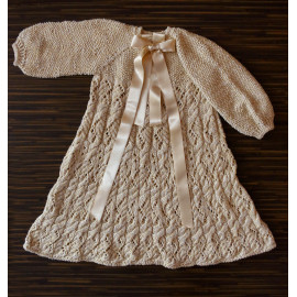 Vintage Knit Robe Boy Historical Clothes Raw Beauty 18 months