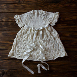 Summer Dress Blessing Outfit Cream