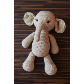 Stuff Animal Ready Elephant Crocheted Main Squeeze Elephant