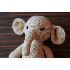 Stuff Animal Ready Elephant Crocheted Main Squeeze Elephant