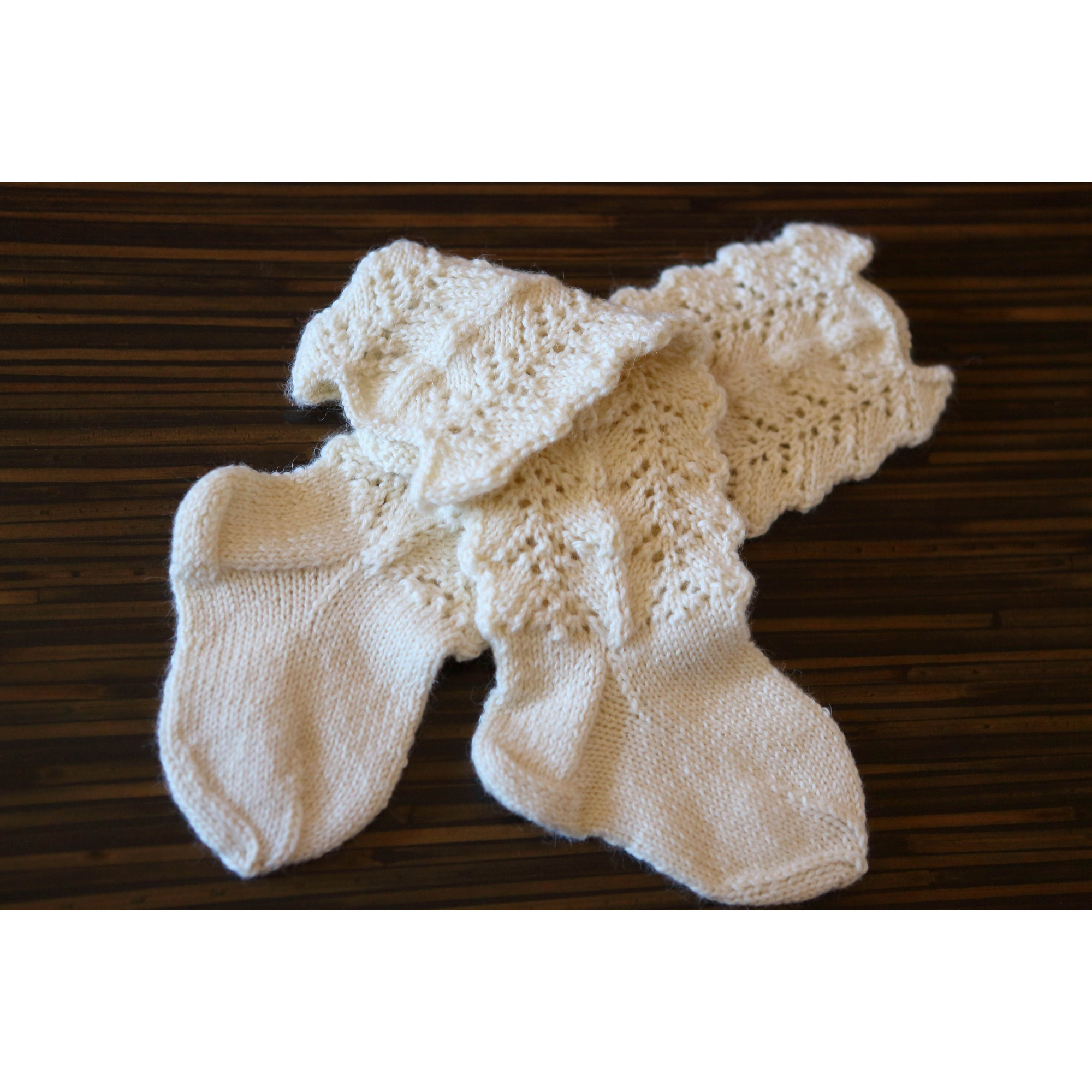White Lace Socks Vintage Loungewear For Infant