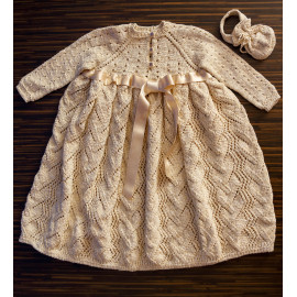 Vintage Dress Knit Girl Dress 18 months 86cm-92cm 2.6' - 2.8′
