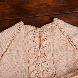 Sweet and Simple Knitted Linen Vintage Dress 4T Crossbody Kids