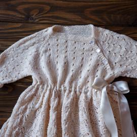 Handknitted Outfit Seamless Dress Church Dress