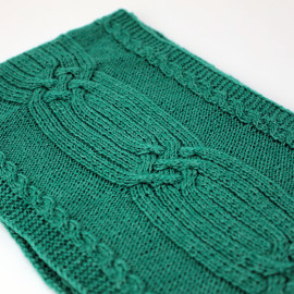 Emerald Scarf Cable Knit Fall Clothes