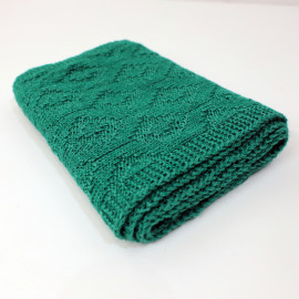 Hand Knitted Fall Women's Clothes Emerald Scarf