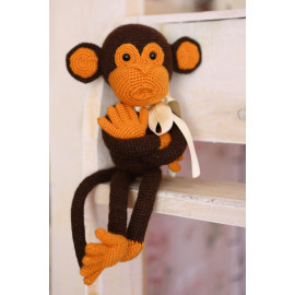 Monkey Do, Hand Crocheted Toy Crochet Tilda Doll