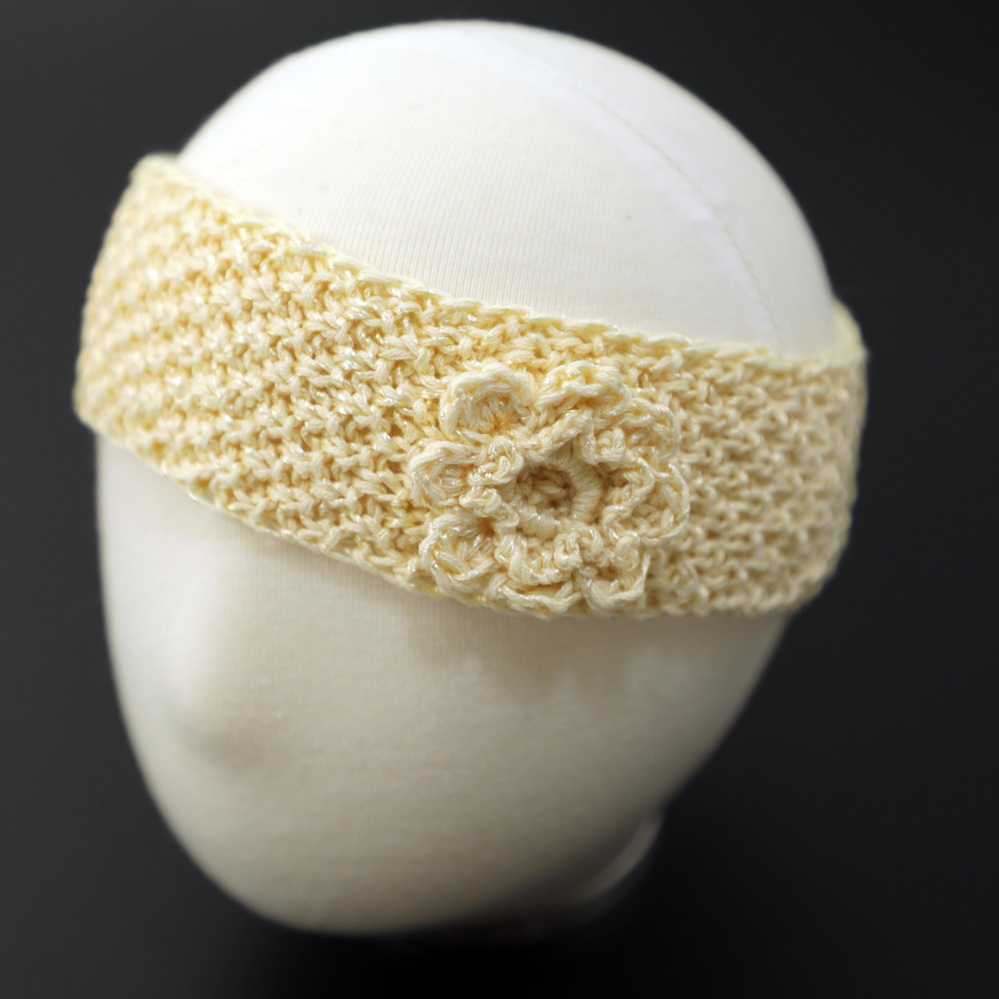 Knitted Girl Headband Rustic Headbands Lace