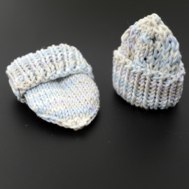 Knitted Baby Вoots Scratch Mittens Coming Home Outfit Set 0-3