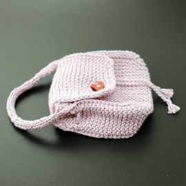 Soft Plum Color Drawstring Purse Children's Play Accessories