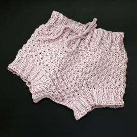 Star Pattern Baby Bloomers Soft Plum Color 0-3 Months Regular