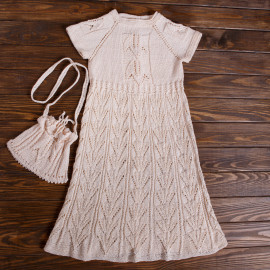Seamless Detailed Handmade Dress Age 8-9