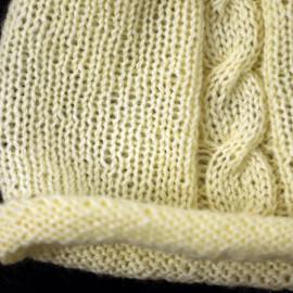 Rolled Edge Cap Newborn Set Off-White Color