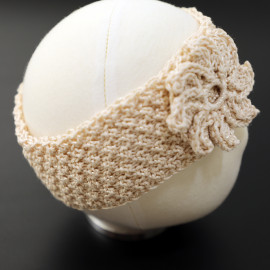 Floral Knit Turban Daughter Headband