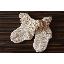 Hand Knitted Elegant Newborn Set Baby Bonnet Hat Floral
