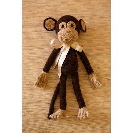 Monkey See, Cuddly Toy Kids Hand Crocheted Toy