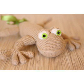 Handmade Soft Lizard Little Stuffed Reptile Tone Beige