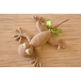 Handmade Soft Lizard Little Stuffed Reptile Tone Beige