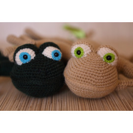 Crocheted Animal Lizard Reptile Forest Green