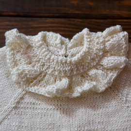 Vintage Infant Robe Antique Lace Handmade